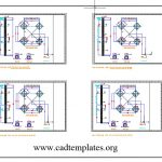 Telecom Tower Foundation Layout Plan CAD Template DWG