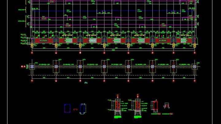 Tie Beam Concrete Reinforcement Details CAD Template DWG