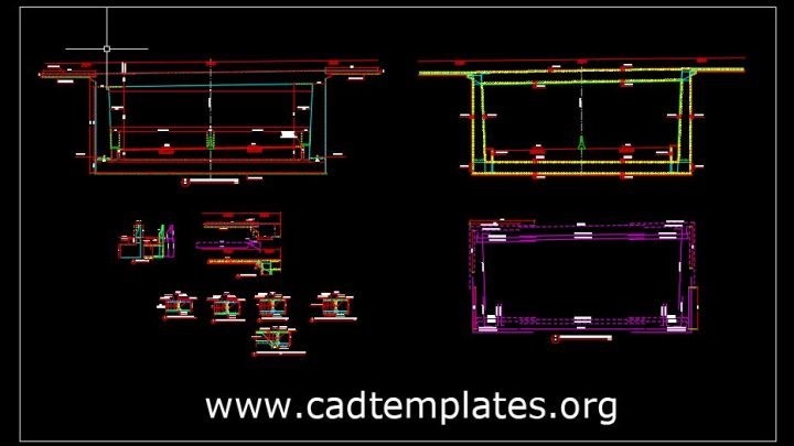 Tunnel Reinforcement Concrete Cross Section Details CAD Template DWG