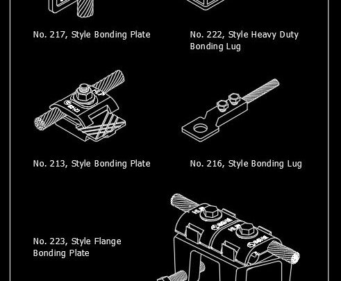 Typical Bonding Lugs and Plates Details CAD Template DWG