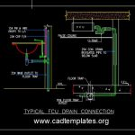 Typical FCU Drain Connection Detail CAD Template DWG