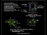 Typical Manhole Connections Details CAD Template DWG