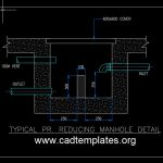 Typical PR Reducing Manhole Detail CAD Template DWG