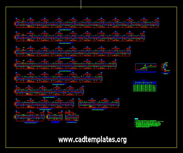 Typical Reinforcement Details of Beams CAD Template DWG