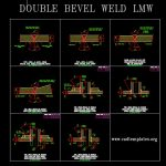 Typical Welding Details Double Bevel LMW CAD Template DWG