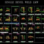 Typical Welding Details Single Bevel for LMW CAD Template DWG