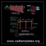 Typical Wooden Shade Details CAD Template DWG
