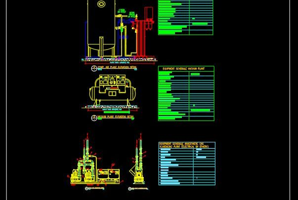 Vaccium – Compressed Air Plant and AGSS Details CAD Template DWG