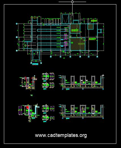 Wall Trench Reinforcement Concrete Details CAD Template DWG