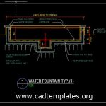 Water Fountain Section Details CAD Template DWG