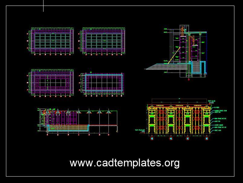 Wellmade External Scaffolding Details CAD Template DWG