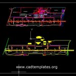 Aircraft Park Layout Plan CAD Template DWG