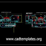 Airport Terminal Building Plan CAD Template DWG