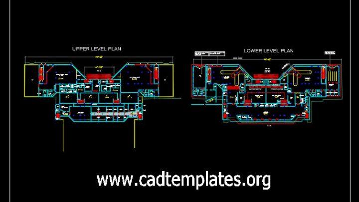 Airport Terminal Building Plan CAD Template DWG