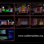 Auditorium Design Project Plan Elevations and Sections Details CAD Template DWG