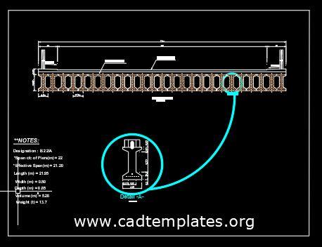 Bridge Girder Section Detail CAD Template DWG