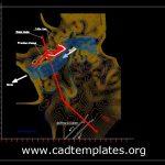 Coffer Dam Layout Plan CAD Template DWG