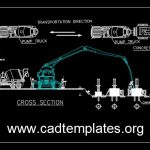Concrete Pump CAD Template DWG