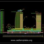High-Rise Buiding Elevation CAD Template DWG