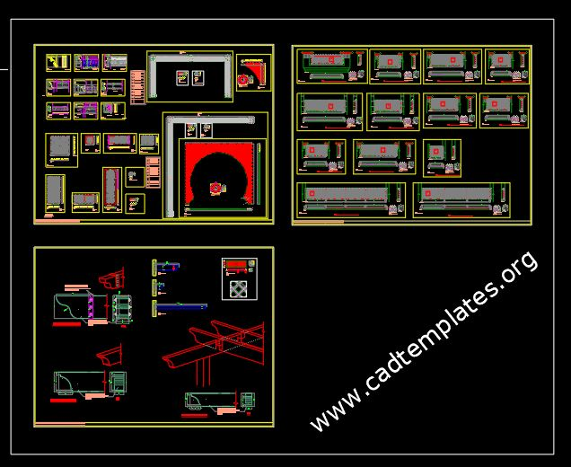 Holding Malls GRC Details CAD Template DWG