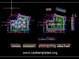 Hotel Entrance Floor Dining Room Layout CAD Template DWG