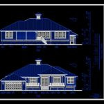 House Elevation Front and Rare CAD Template DWG