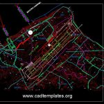 International Airport Topo Plan CAD Template DWG