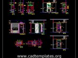 Sample Room Service Cabinrt and Wardrobe Details CAD Template DWG