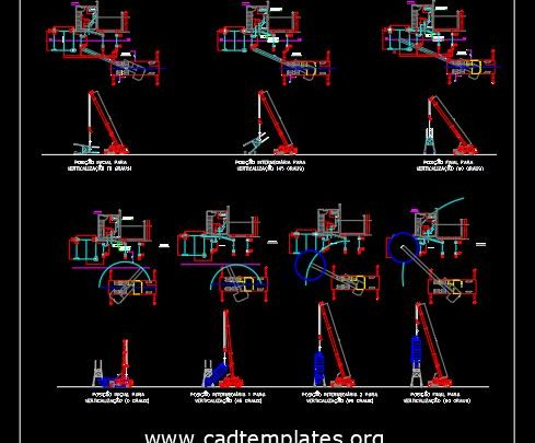 Silo Assembly Concrete Factory Details CAD Template DWG