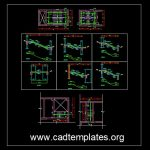 Staircase Reinforcement Details CAD Template DWG