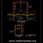 Steel Shade Typical Section Detail CAD Template DWG
