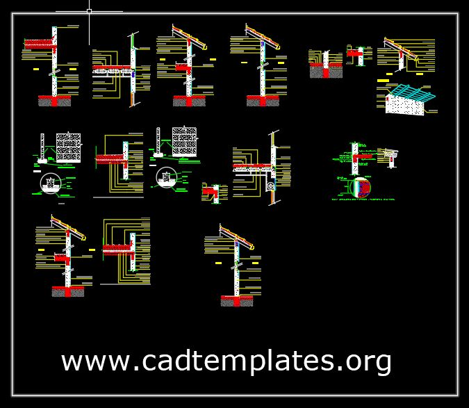 Support Slabs Roofs Details CAD Template DWG