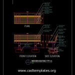 Wooden Seating Typical Section Detail CAD Template DWG