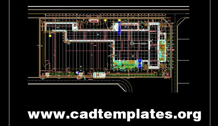 Steel Factory Ground Plan CAD Template DWG