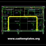 Steel Factory Location Plan CAD Template DWG