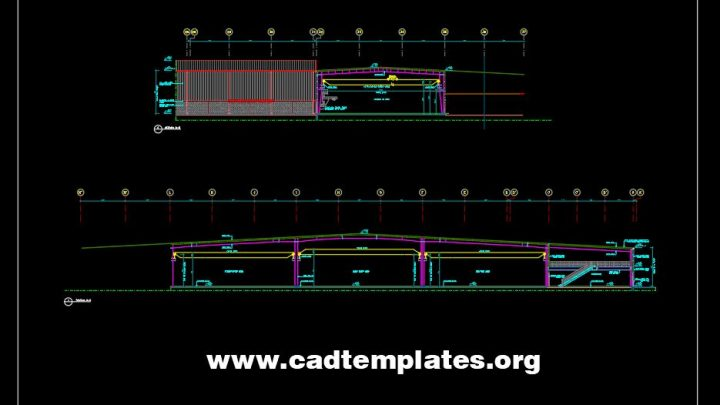 Steel Factory Section Details CAD Template DWG