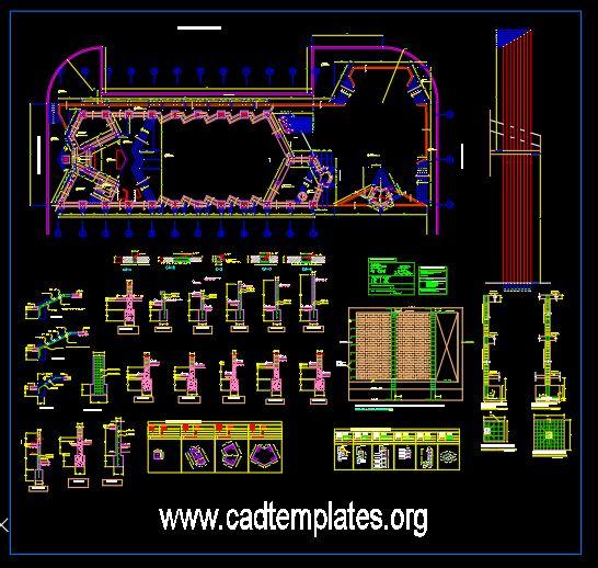 Chapel Project Concrete Details CAD Template DWG