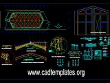 Chapel Project Elevation Steel Details CAD Template DWG