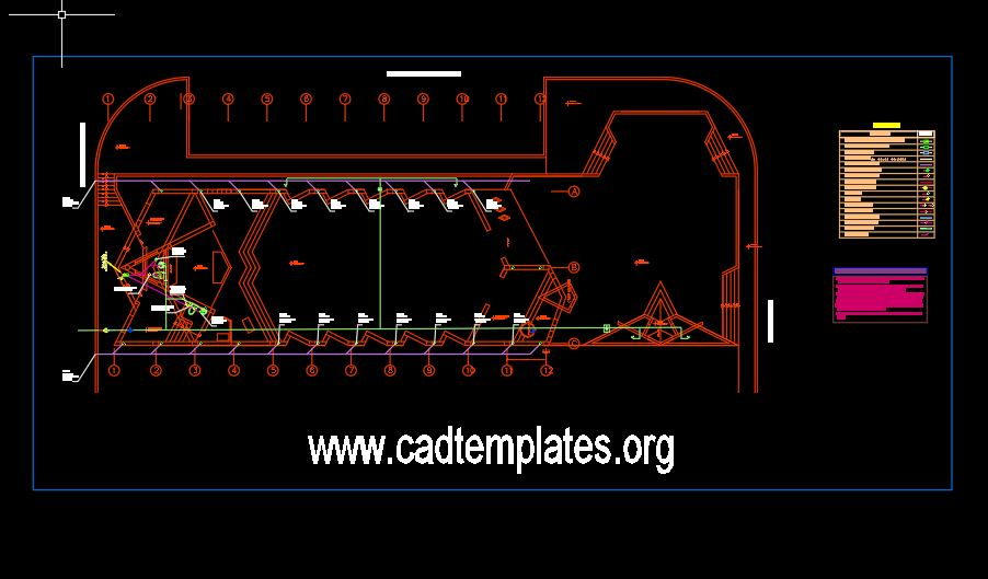 Chapel Project Sanitary Details CAD Template DWG