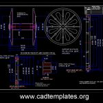 Steel Bobbin With Gears and Sleeve CAD Template DWG