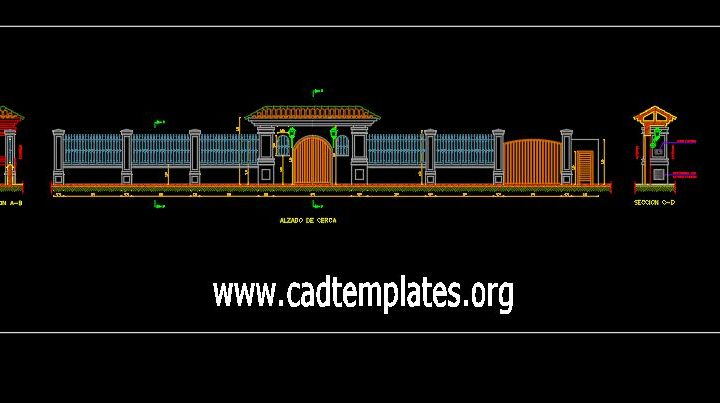 Access To Parcel Elevation CAD Template DWG