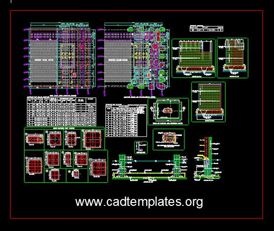 Boiler House Factory Foundation Details CAD Template DWG