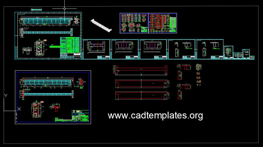 Bridge Girder Details CAD Template DWG