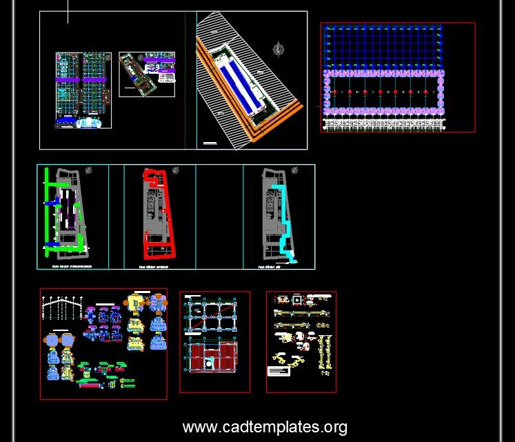 Chocolat Production Factory CAD Template DWG
