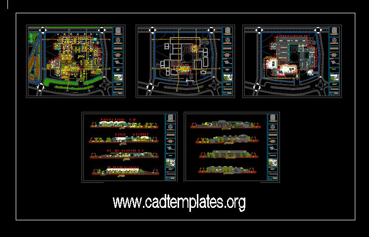 Coffee Processing Plant Cuts CAD Template DWG