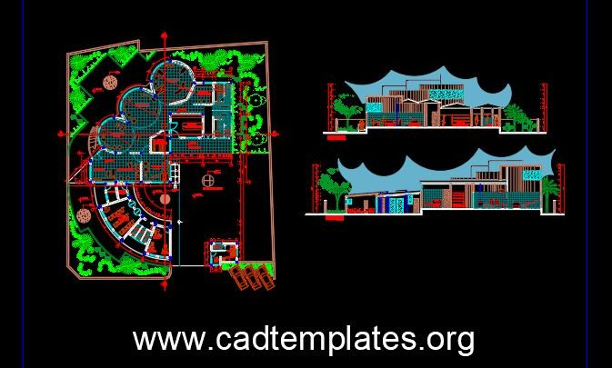 Dairy Plant Layout CAD Template DWG