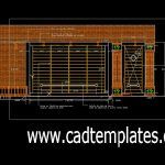 Dinner Door Of Entrance 3D Model CAD Template DWG