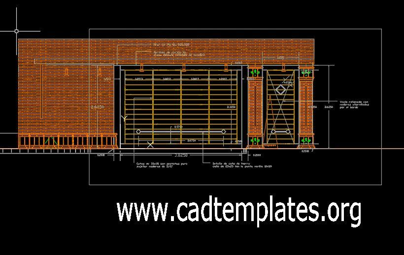 Dinner Door Of Entrance 3D Model CAD Template DWG