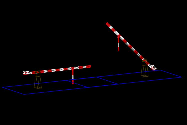 Double Safety Barrier 3d Model CAD Template DWG