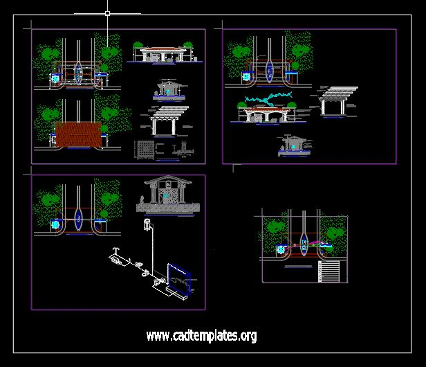 Entrance Layout Plan and Electric Details CAD Template DWG